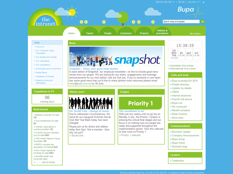 Bupa Home Page