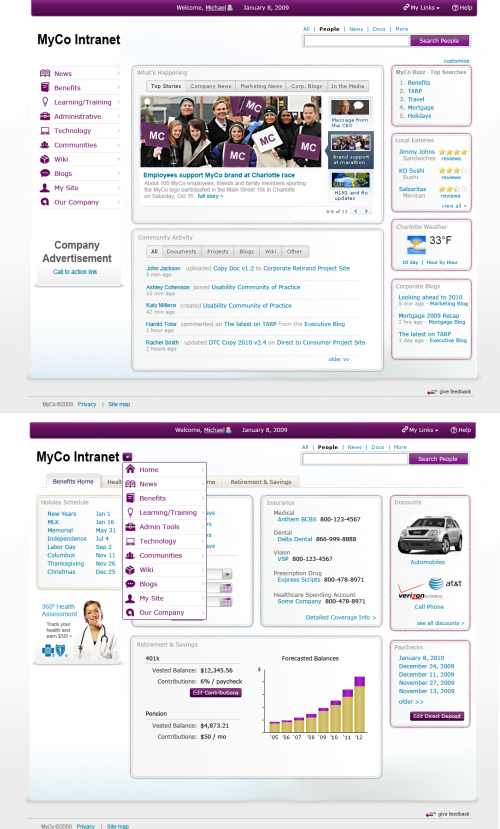 2.MyCo Intranet - Mike Gallers