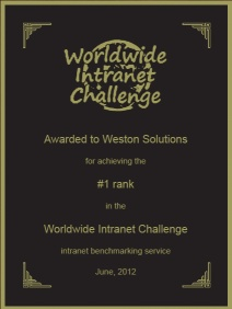 Weston Solutions plaque